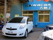 古馳上2012年出廠豐田YARIS G版 女用一手只跑4萬出頭 原廠白色